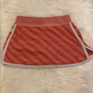 Orange Striped Nike Skort Medium Good Condition
